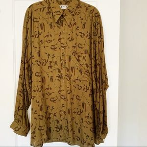 NWT Andrew Fezza Men's Buttown Down Shirt